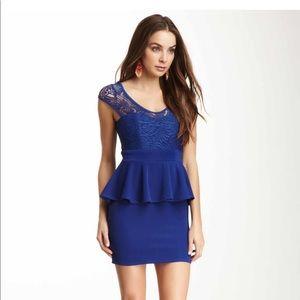 Lace Trim Peplum Dress - READ Desc.*